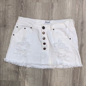 One Teaspoon White Denim Skirt